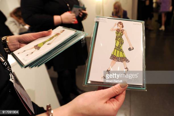 Lela Rose card on display at the Papyrus Café during IMG NYFW The Shows at Spring Studios on February 11 2018 in New York City