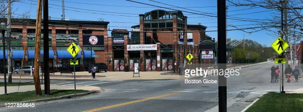 LeLacheur Park home of the Red Sox minor league affiliate Lowell Spinners in Lowell MA on May 15 2020 The cancellation of the entire 2020 minor...