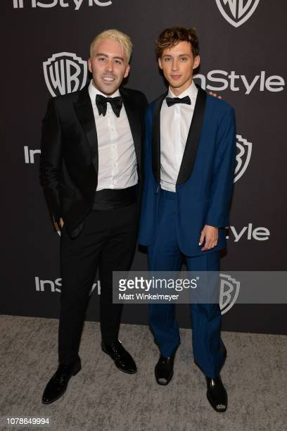 Leland and Troye Sivan attend the 2019 InStyle and Warner Bros 76th Annual Golden Globe Awards PostParty at The Beverly Hilton Hotel on January 6...