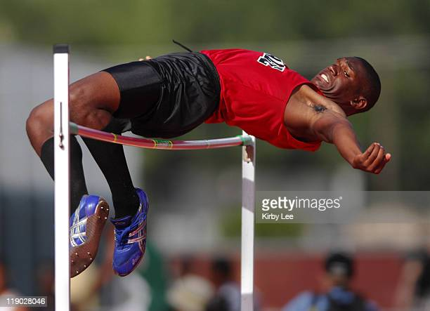 Leland Anderson of Lawndale High was among five to clear 68 in the high jump qualifying in the CIF State Track Field Championships at Hughes Stadium...