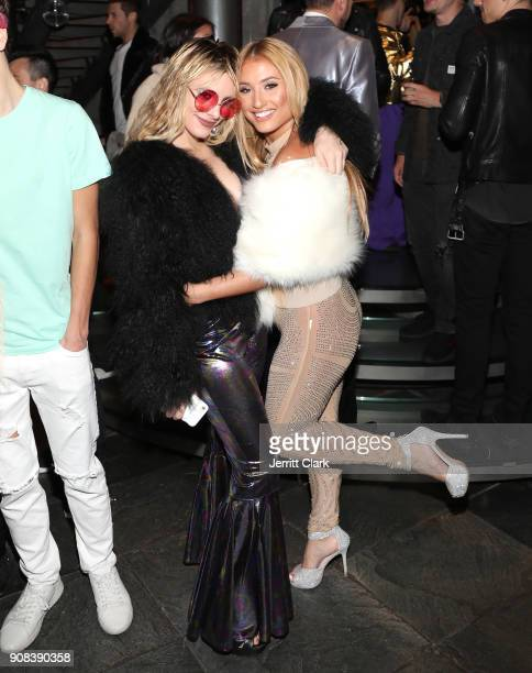 Lele Pons and Montana Tucker attend Montana Tucker's Disco Birthday Celebration at a Private Residence on January 20 2018 in Beverly Hills California