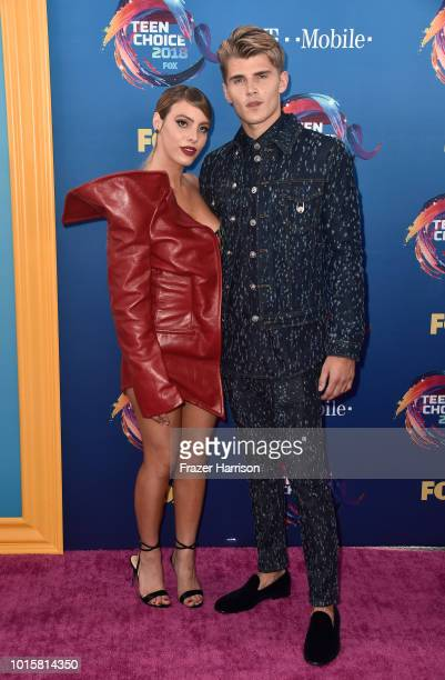 Lele Pons and Twan Kuyper attend FOX's Teen Choice Awards at The Forum on August 12 2018 in Inglewood California