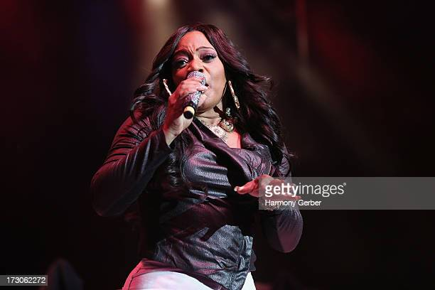 Lelee Lyons of SWV performs at the Greek Theatre on July 5 2013 in Los Angeles California