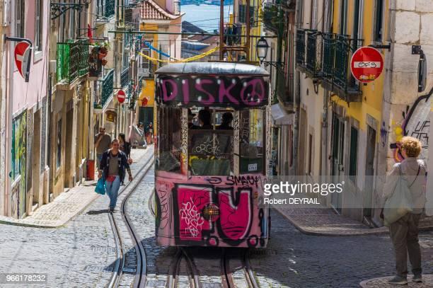 Lelevador da Bica 31 mars 2017 Lisbonne Portugal