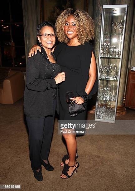 A'Lelia Bundles and Titi Branch coowner of Miss Jessie hair products attend the Target salute to Miko Branch and Titi Branch to celebrate being named...