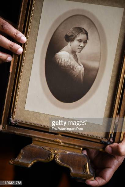 Lelia Bundles of DC holds the iconic photo of her great great grandmother Madam CJ Walker The photo was taken in 1913 by Addison Scurlock The framed...