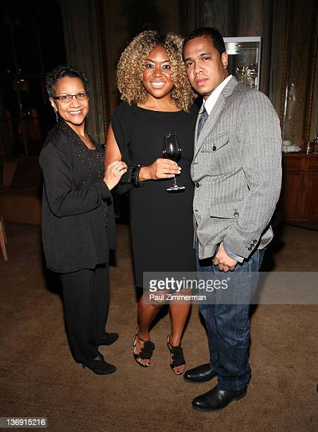 A'Lelia Bundles Titi Branch coowner of Miss Jessie hair products and Johnny Nunez attend the Target salute to Miko Branch and Titi Branch to...