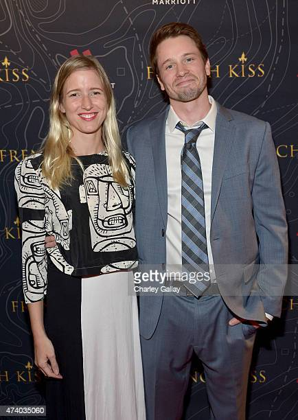 Lelia Parma and actor Tyler Ritter attends The Marriott Content Studio's French Kiss film premiere at the Marina del Rey Marriott on May 19 2015 in...