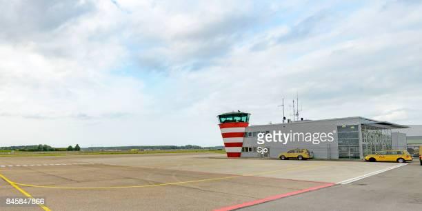 Aéroport de Lelystad aux Pays-Bas Flevoland en cours d'élaboration