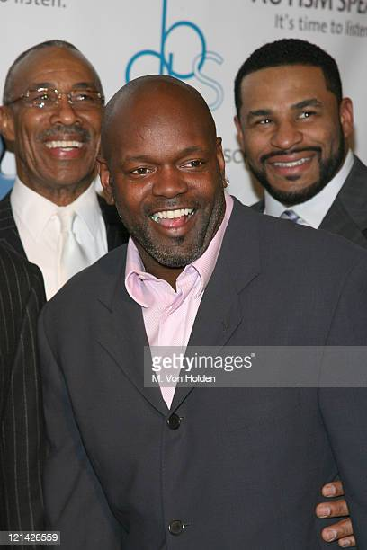 Lem Barney Emmitt Smith and Jerome Bettis during NFL and The Gillen Brewer Company held the 'Kick off for a Cure' Benefit for Autism Speaks at...