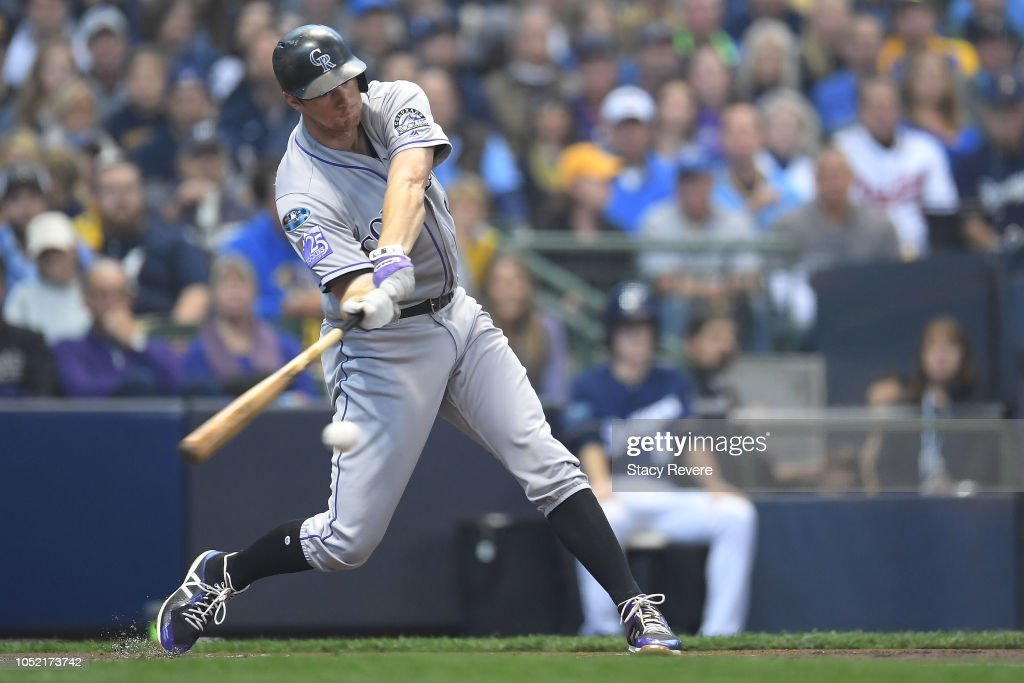 Divisional Round - Colorado Rockies v Milwaukee Brewers - Game Two : News Photo