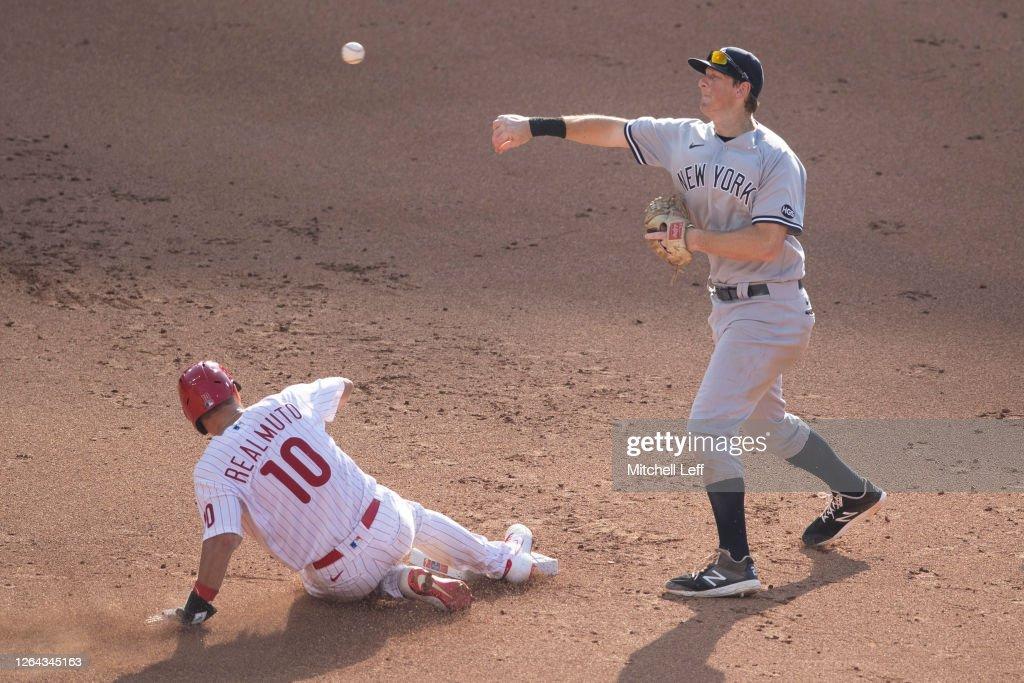 Philadelphia Phillies v New York Yankees - Game One : News Photo