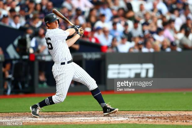 LeMahieu of the New York Yankees bats during the MLB London Series game between Boston Red Sox and New York Yankees at London Stadium on June 30,...