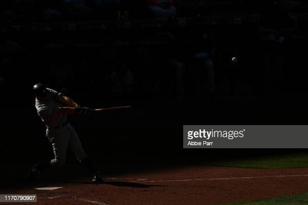 LeMahieu of the New York Yankees hits a solo home run in the ninth inning against the Seattle Mariners during their game at T-Mobile Park on August...