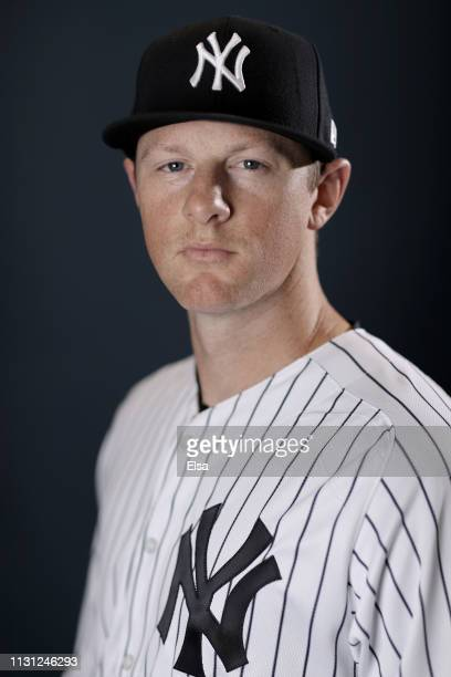 DJ LeMahieu of the New York Yankees poses for a portrait during the New York Yankees Photo Day on February 21 2019 at George M Steinbrenner Field in...