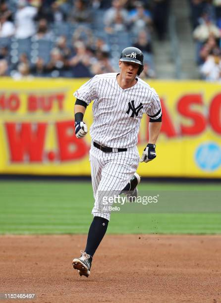 LeMahieu of the New York Yankees rounds the bases after his first inning home run against Chris Paddack of the San Diego Padres during their game at...