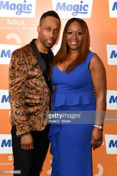 Lemar and Angie Greaves pose backstage during the Magic Soul Live at Eventim Apollo, Hammersmith on February 23, 2019 in London, England.