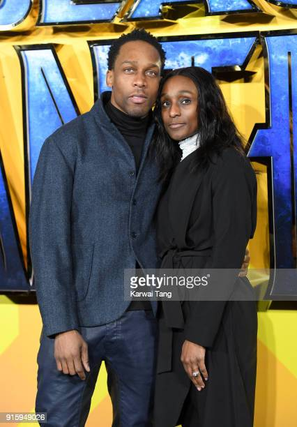Lemar and Charmaine Powell attend the European Premiere of 'Black Panther' at Eventim Apollo on February 8 2018 in London England