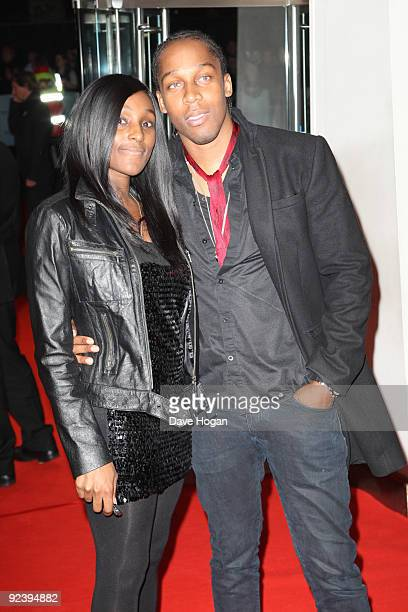 Lemar and Charmaine Powell attend the UK premiere of This Is It held at the Odeon Leicester Square on October 27 2009 in London England