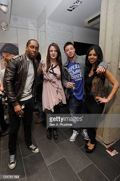Lemar and Duncan James attends the launch of Kate Voegeles 'Signature Series Sunglasses Beckon' at the Oakley Store on September 12 2011 in London...