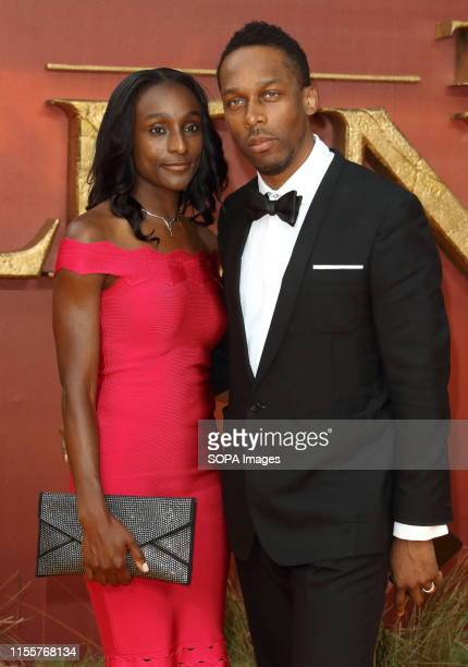 Lemar and guest attend the European Premiere of Disney's The Lion King at the Odeon Luxe cinema Leicester Square in London