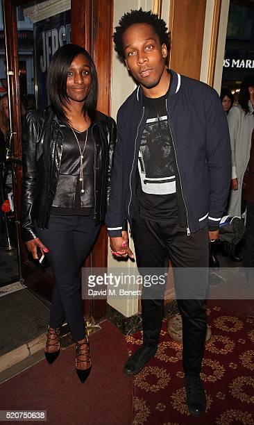 Lemar arrives at the 8th anniversary gala performance of 'Jersey Boys' at the Piccadilly Theatre on April 12 2016 in London England