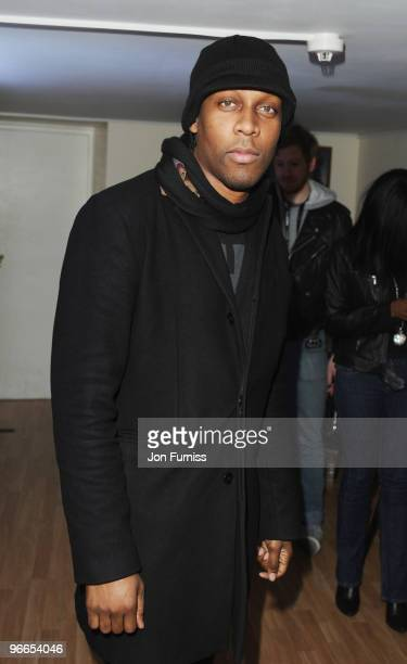 Lemar attends the JLS perform live for NOKIA Comes with Music and TMobile concert at HMV Hammersmith Apollo on February 13 2010 in London England