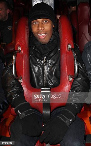 ACCESS** Lemar attends the launch of SAW Alive the world's most extreme live horror maze at Thorpe Park on March 9 2010 in Chertsey England