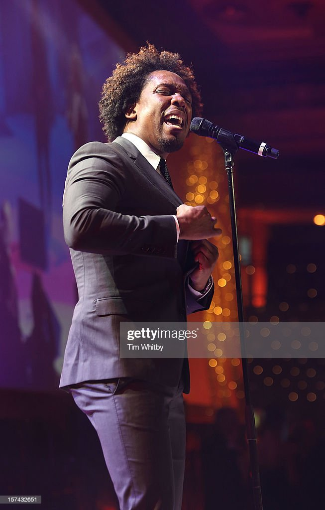 Lemar perfoms at the British Olympic Ball at the Grosvenor Hotel on November 30, 2012 in London, England.