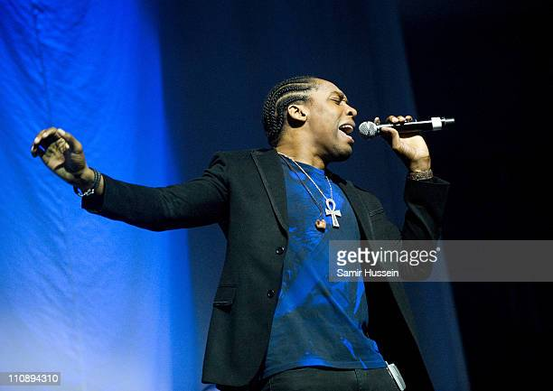 Lemar performs at the 02 Arena on March 25 2011 in London England