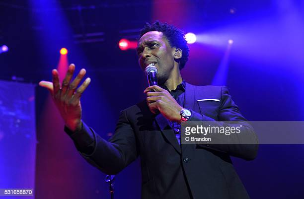 Lemar performs on stage at the Roundhouse on May 15 2016 in London England