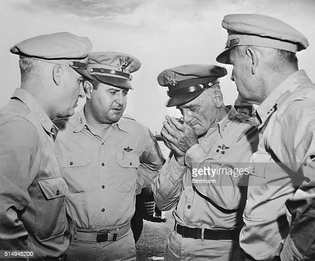 LeMaySpaatz and Cammanders Meet on Guam 1945