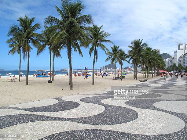 leme / copacabana beach, rio de janeiro - copacabana rio de janeiro stock-fotos und bilder