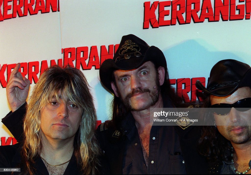 Lemmy and other members of the band Motorhead at the Kerrang