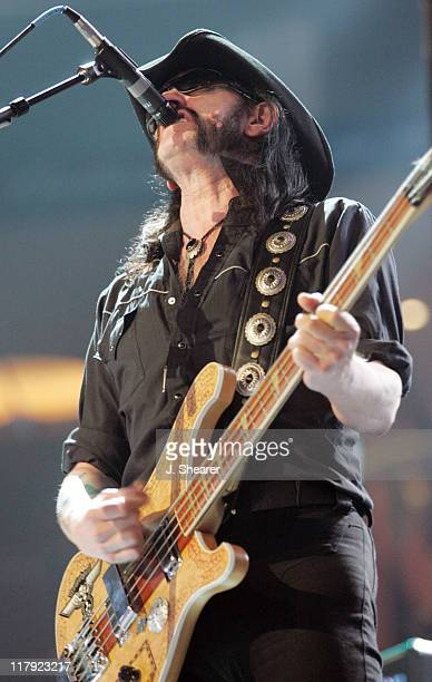 Lemmy Kilminster of Motorhead during WWE WrestleMania 21 'WrestleMania Goes Hollywood' at Staples Center in Los Angeles California United States