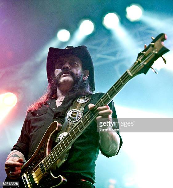 Lemmy Kilminster of Motorhead performs on the third day of the Bulldog Bash at Avon Park Raceway on August 8 2009 in Long Marston England