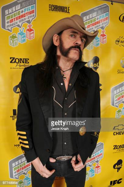 Lemmy Kilmister attends the 'Lemmy' Red Carpet arrivals and Greenroom at 2010 SXSW Festival at Paramount Theater on March 15 2010 in Austin Texas