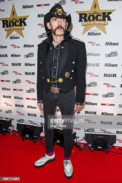 Lemmy Kilmister of Motorhead attends the Classic Rock Roll of Honour at The Roundhouse on November 11 2015 in London England