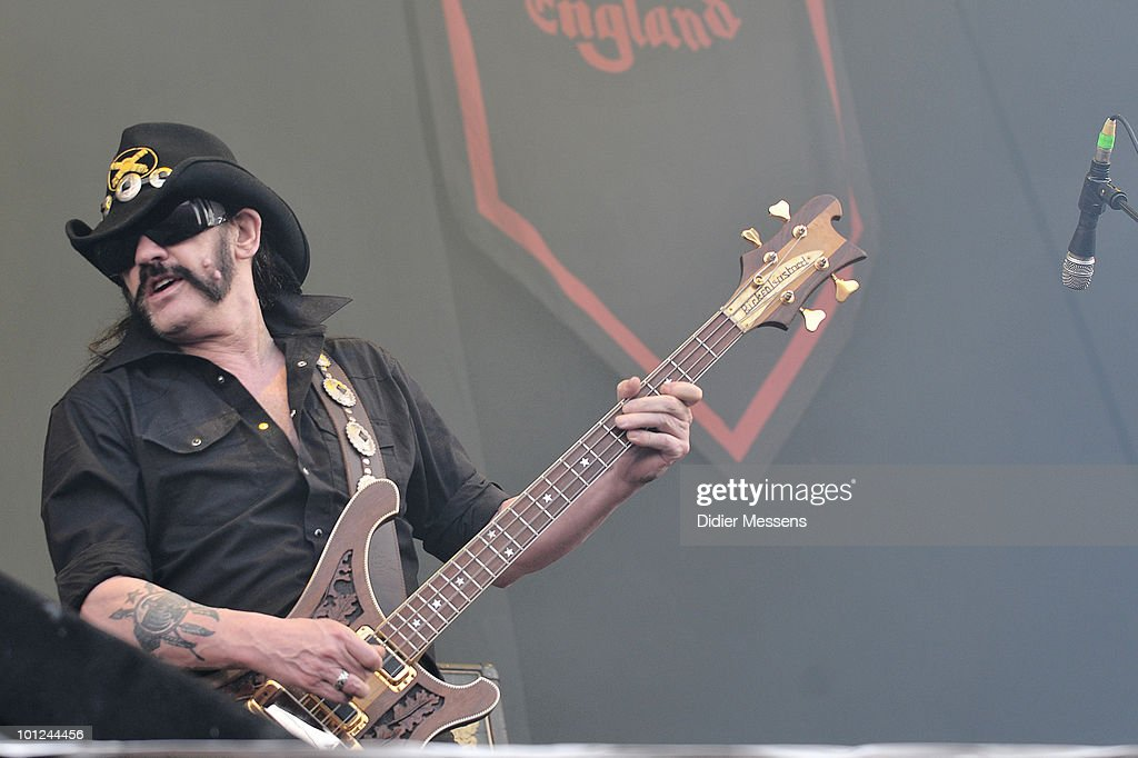 Lemmy Kilmister of Motorhead performs during the first day of Pink Pop Festival on May 28, 2010 in Landgraaf, Netherlands.