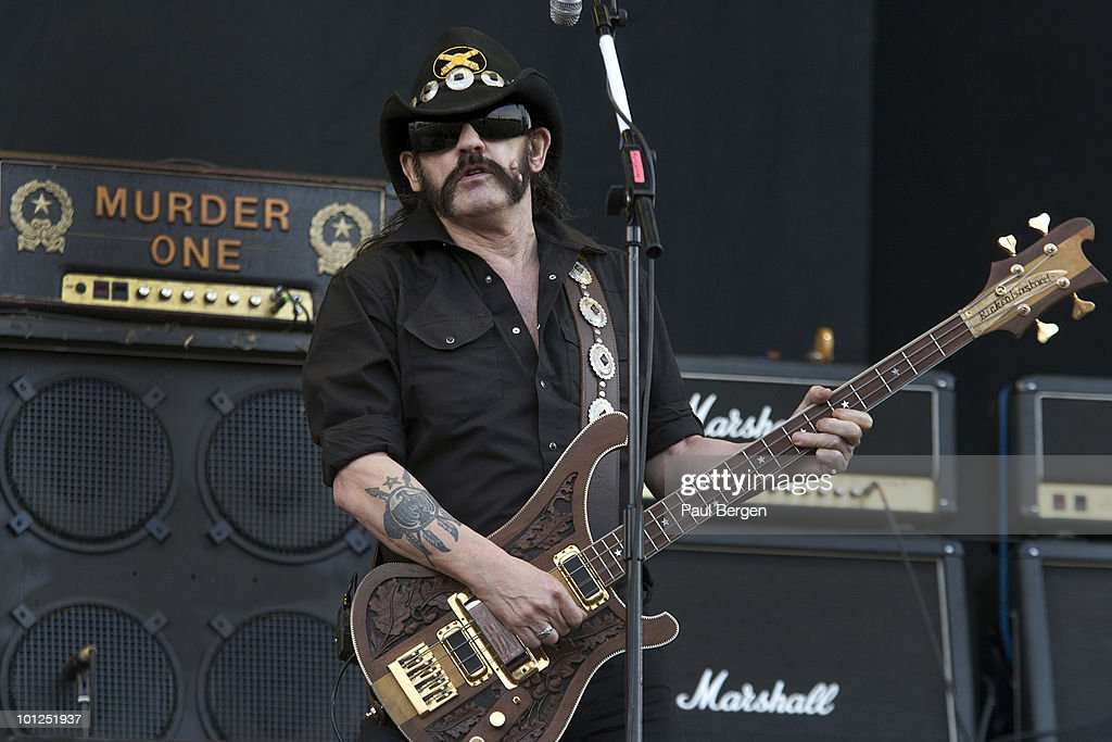 Lemmy Kilmister of Motorhead performs live on day 1 of the Pinkpop Festival on May 28, 2010 in Landgraaf, Netherlands.
