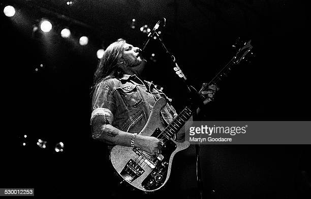 Lemmy Kilmister of Motorhead performs on stage in Portsmouth United Kingdom 1991