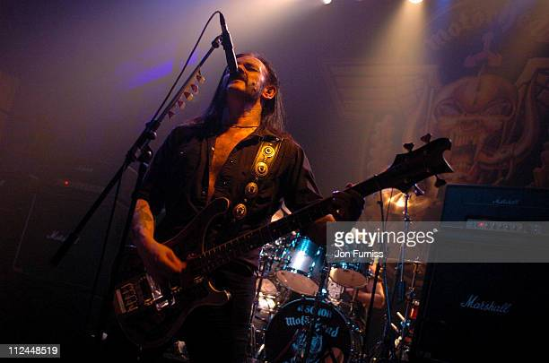 Lemmy of Motorhead during Motorhead 'A Night At The Opera' Concert at Royal Opera House in London Great Britain