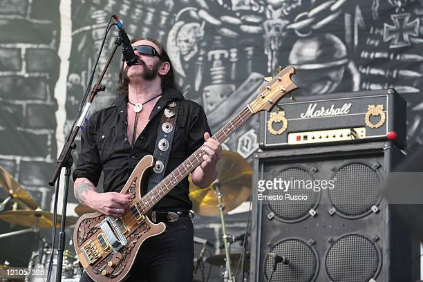 Lemmy of Motorhead during Motorhead Mastodon Machine Head And Lauren Harris In Concert June 20 2007 at Olimpico Stadium in Rome Italy