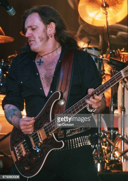 Lemmy of Motorhead performing on stage at The Forum, London, 2 Nov 1995.