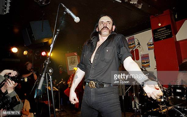 Lemmy of Motorhead performs live on stage as a special guest with the MC5 during the reunion show 'Sonic Revolution A Celebration Of The MC5' at the...