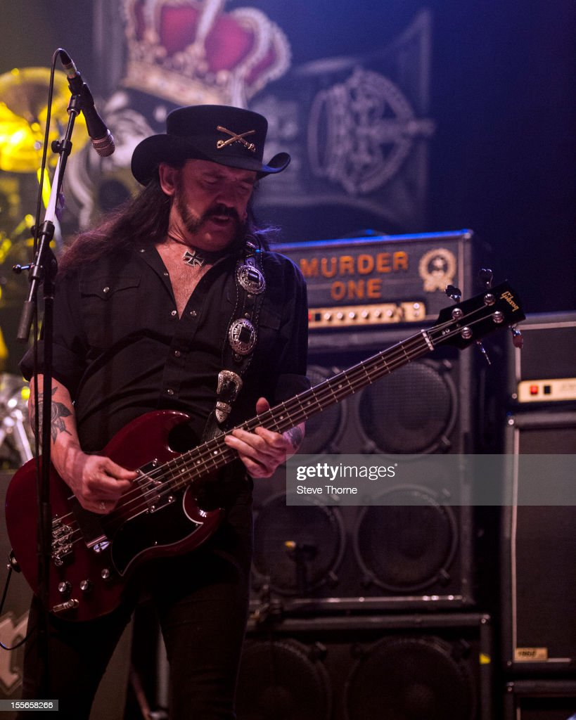 Lemmy of Motorhead performs on stage at Wolverhampton Civic Hall on November 5, 2012 in Wolverhampton, United Kingdom.