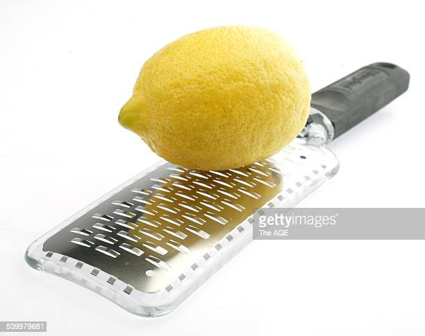 A lemon and a lemon zester 26 January 2004 THE AGE Picture by MARINA OLIPHANT