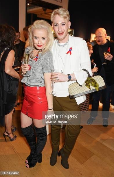 Lemon and LewisDuncan Weedon attend Terrence Higgins Trust The Auction in support of people living with HIV at Christie's on April 11 2017 in London...
