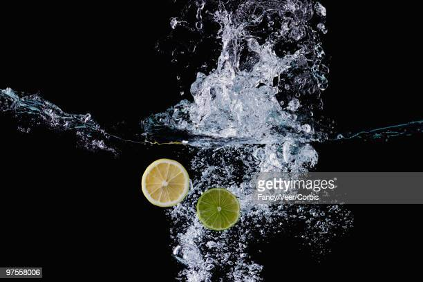 Lemon and Lime Slices in Water
