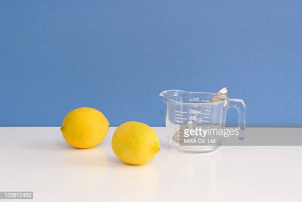 Lemon and measuring jug